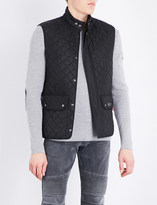 Belstaff Suede collar quilted shell gilet