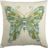 Pier 1 Imports Spring Meadow Embellished Butterfly Pillow