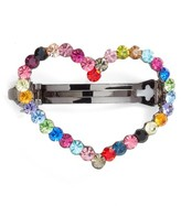 Tasha Crystal Heart Barrette