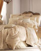 "Lattice Cord-Trimmed Pillow, 12"" x 16"""