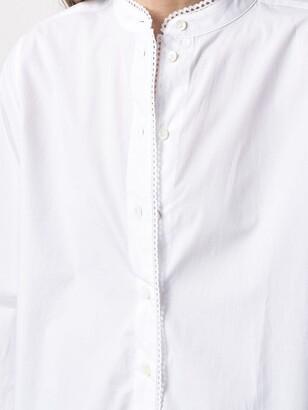 Closed Collarless Cotton Shirt