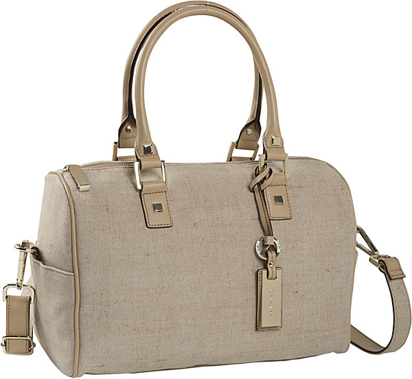 Calvin Klein Linen Zip Top Satchel