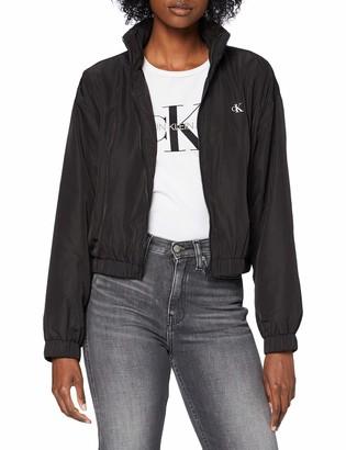 Calvin Klein Jeans Women's Back Logo Windbreaker Jacket