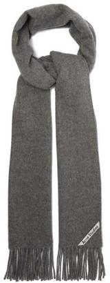 Acne Studios Canada Skinny Wool Scarf - Grey