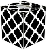 The Well Appointed House BARGAIN BASEMENT ITEM: Chelsea Grande Black and White Decoupage Wastebasket and Optional Tissue Box - IN STOCK IN GREENWICH CT FOR QUICK SHIPPING