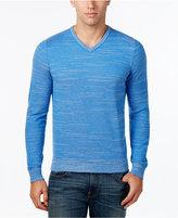 Tommy Hilfiger Men's Textured Streaked V-Neck Sweater