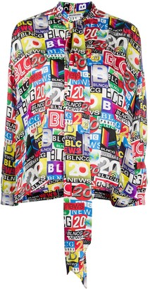 Balenciaga News Print Shirt