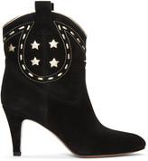 Marc Jacobs Black Suede Georgia Cowboy Boots
