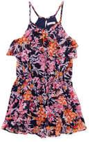 Ella Moss Ashley Cold Shoulder Romper - Pink, Size 7-8y