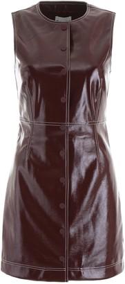 Ganni Buttoned Sleeveless Mini Dress