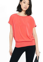 Express capped dolman sleeve blouson top