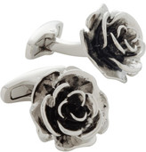 Alta Linea Antique Grey Flower Cufflinks