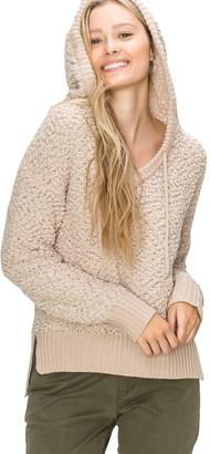 Olivia Pratt Popcorn Knit Hooded Pullover Sweater