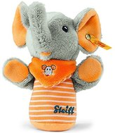 Steiff Trampili Elephant Grip Toy With Rustling Foil (Grey/Orange) by