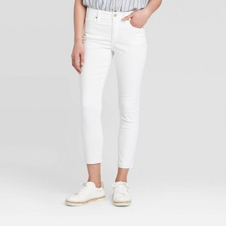 Women's High-Rise Cropped Skinny Jeans - Universal ThreadTM White
