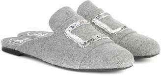 Roger Vivier Exclusive to mytheresa.com embellished felt slippers