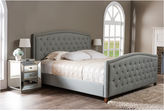 Asstd National Brand Baxton Studio Jessie Modern Upholstered Nail-Head Trim Bed