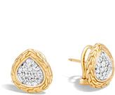 John Hardy Classic Chain Stud Earring in 18K Gold with Diamonds