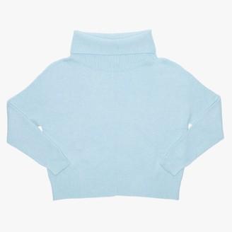Alpini Knitwear Blue Cowl Neck Jumper