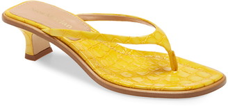Sies Marjan Alix Crocodile Embossed Sandal
