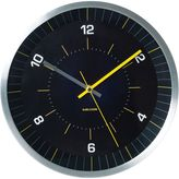 Karlsson Bright Line Wall Clock, Black/Yellow, 30cm