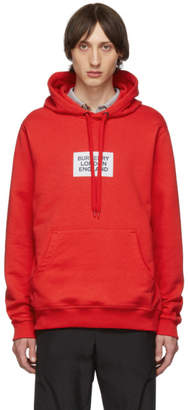 Burberry Red Square Logo Hoodie