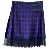 Jean Paul Gaultier Purple Wool Skirt for Women Vintage