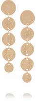 Kenneth Jay Lane Hammered Gold-Plated Coin Drop Earrings