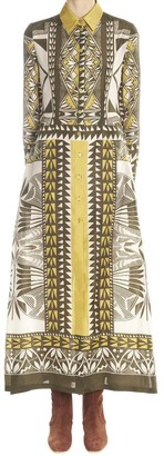 Alberta Ferretti Printed Shirt Dress