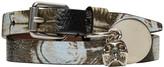 Alexander McQueen Black and Ivory Skull Charm Double Wrap Bracelet