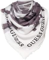 GUESS Abstract logo big square scarf