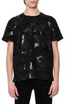 Valentino Camo & Star-Print T-Shirt, Black