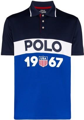 Polo Ralph Lauren Colour-Blocked Logo-Print Polo Shirt