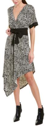 BCBGMAXAZRIA Asymmetrical Midi Dress