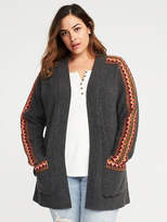 Old Navy Jacquard Plus-Size Cardi-Coat