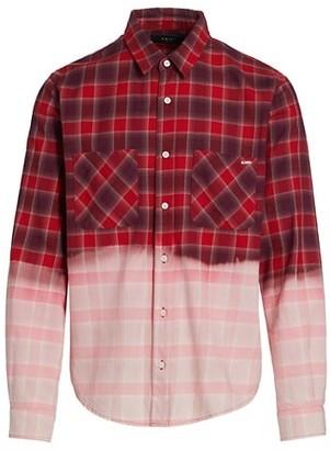 Amiri Bleached Flannel Check Shirt