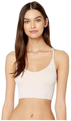 Yummie Ultralight Seamless Lace T-Back Bralette (Almond/Lace) Women's Bra