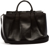 The Row Peggy pleated leather shoulder bag