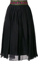 Romeo Gigli Pre Owned embroidered midi skirt