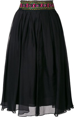 Romeo Gigli Pre-Owned Embroidered Midi Skirt