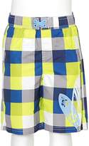 iXtreme Iextreme Blue Yellow Surfboard Checked Swim Trunks Baby Boys Size 12M