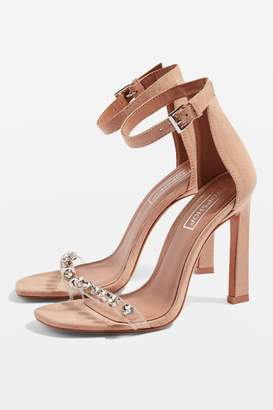 Topshop Womens Sherry Two Part Heels - Nude