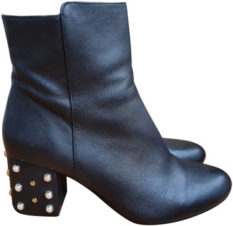 Minelli Black Leather Ankle boots