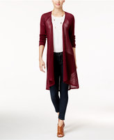 Style&Co. Style & Co Pointelle Duster Cardigan, Only at Macy's