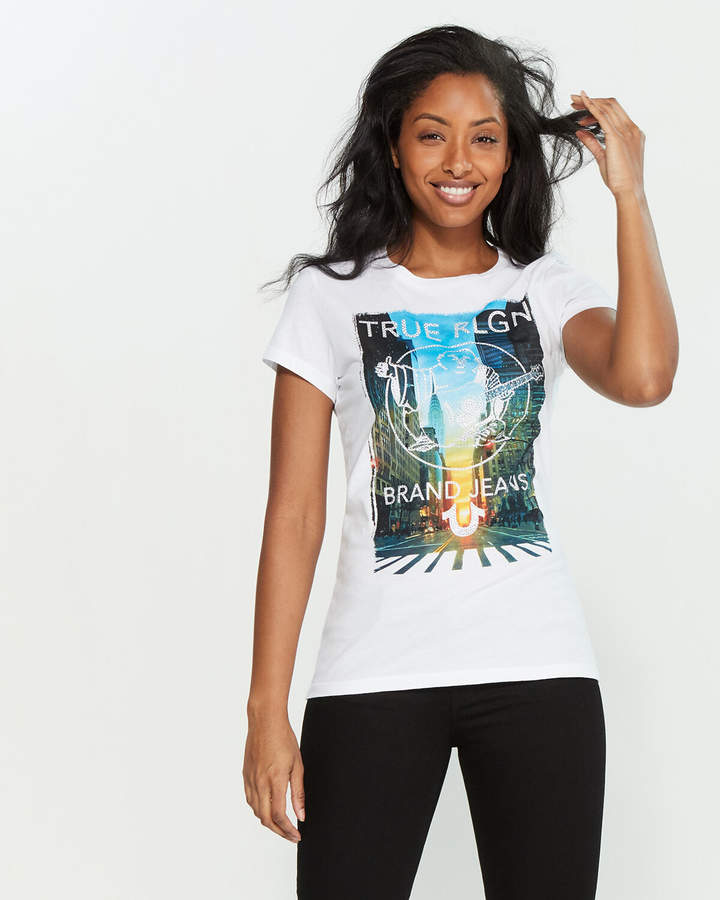 2212e1a42 Embellished Graphic Tees - ShopStyle