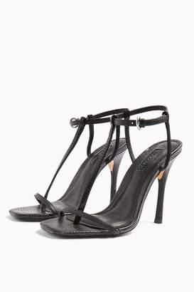 Topshop RHYS Black T Bar High Heels