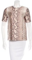 Tory Burch Mikado Silk Wool Blend Top