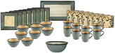 Mikasa Belmont Square Blue Leaves Service for 8 With Serveware