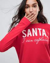 Only Santa I Can Explain Holidays Sweatshirt