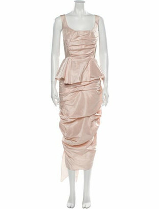 Marchesa Square Neckline Knee-Length Dress w/ Tags Pink